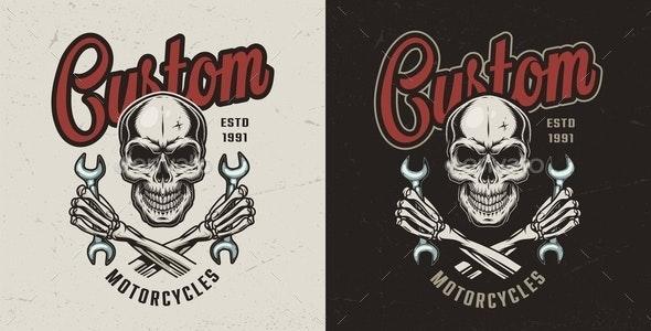 Vintage Motorcycle Workshop Print - Miscellaneous Vectors