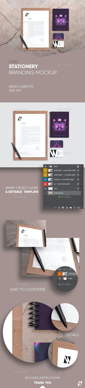Stationery Branding Mockup - Stationery Print