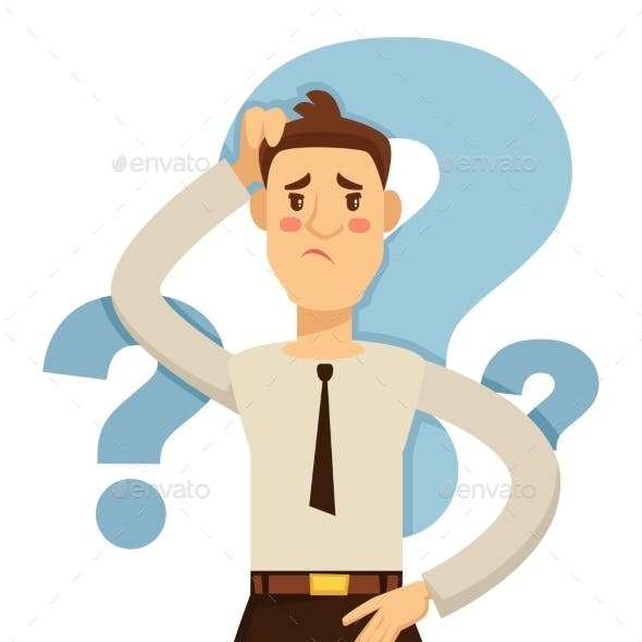 Businessman Making Decision Hesitation and Doubt