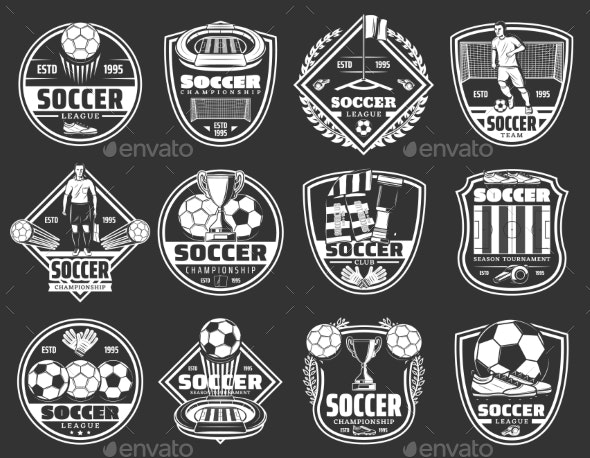 Soccer Sport Badges - Sports/Activity Conceptual