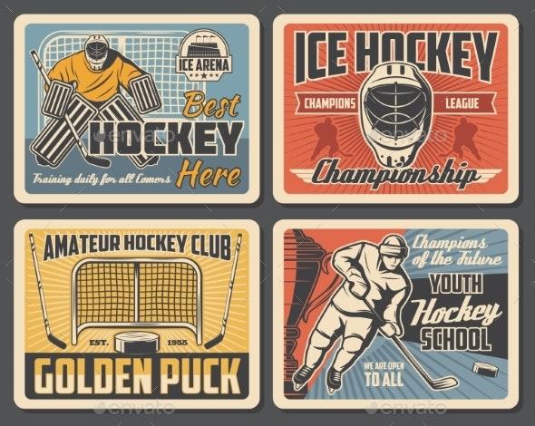 Ice Hockey Championship Sport Club Tournament - Sports/Activity Conceptual