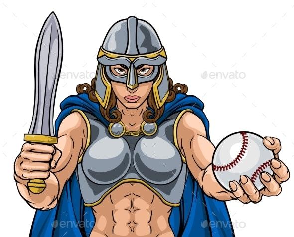 Viking Trojan Celtic Knight Baseball Warrior Woman - People Characters
