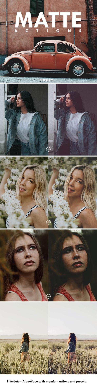 Matte Actions - Actions Photoshop
