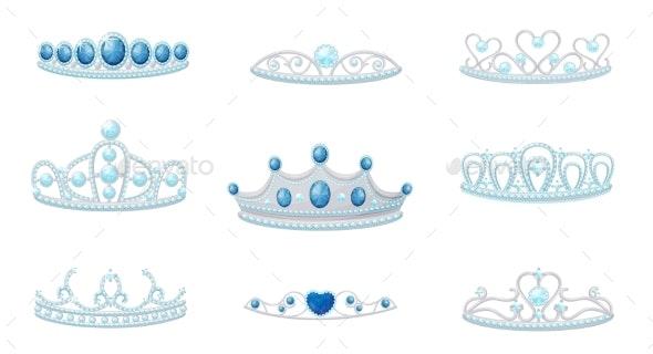 Set of Crowns Images - Miscellaneous Vectors