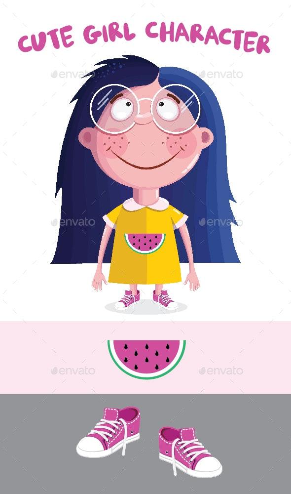 Girl Character - People Characters
