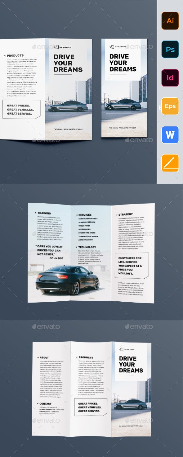 Car Dealership Trifold Brochure - Corporate Brochures