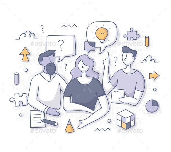 Brainstorming and Solving Problem Concept - Concepts Business