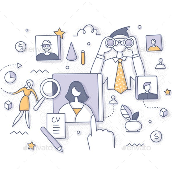 Recruitment and Employee Search Concept