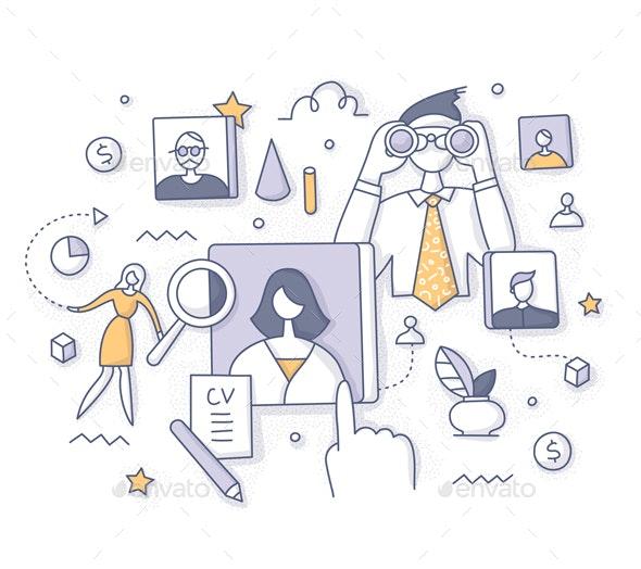 Recruitment and Employee Search Concept - Miscellaneous Conceptual