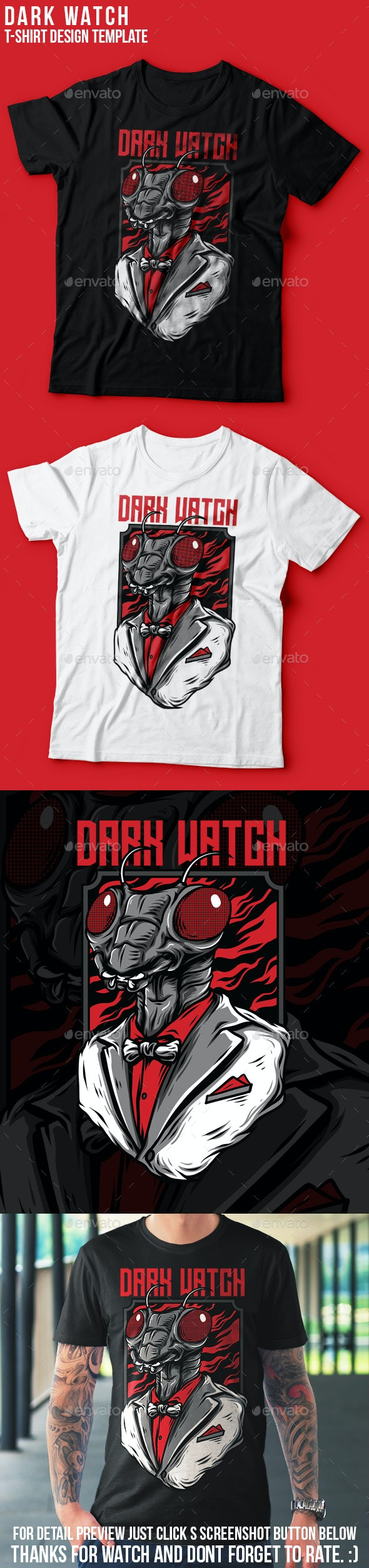 Dark Watch T-Shirt Design - Clean Designs