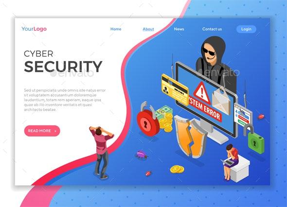Hacker Phishing Activity Isometric Concept - Computers Technology