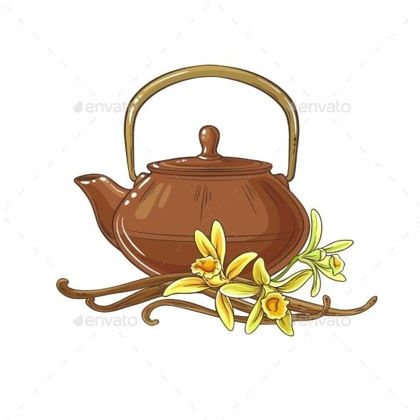 Vanilla Tea Illustration - Health/Medicine Conceptual