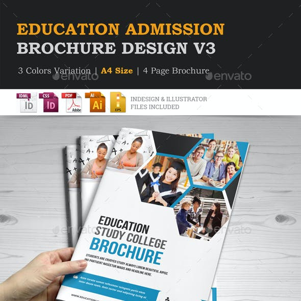 Education Admission College Brochure design v3