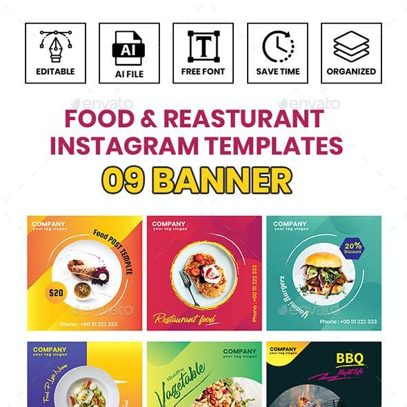 Food & Restaurant Instagram Templates