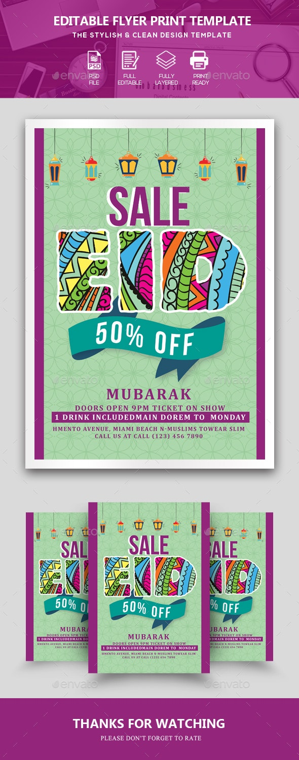 Eid Sale Promotion Flyer - Events Flyers