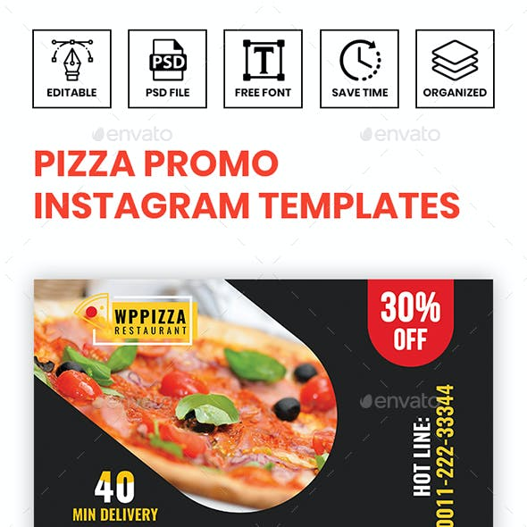 Pizza Promo Instagram Templates