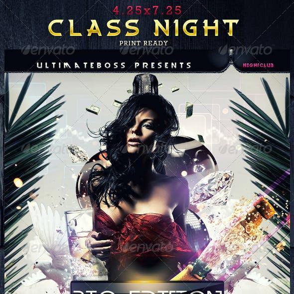 Class Night Flyer