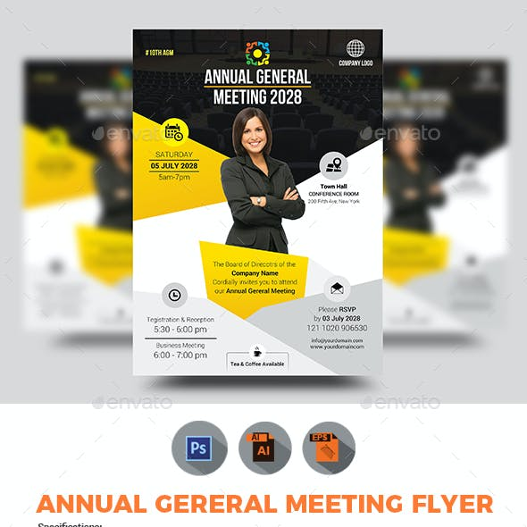 Annual General Meeting / AGM Flyer