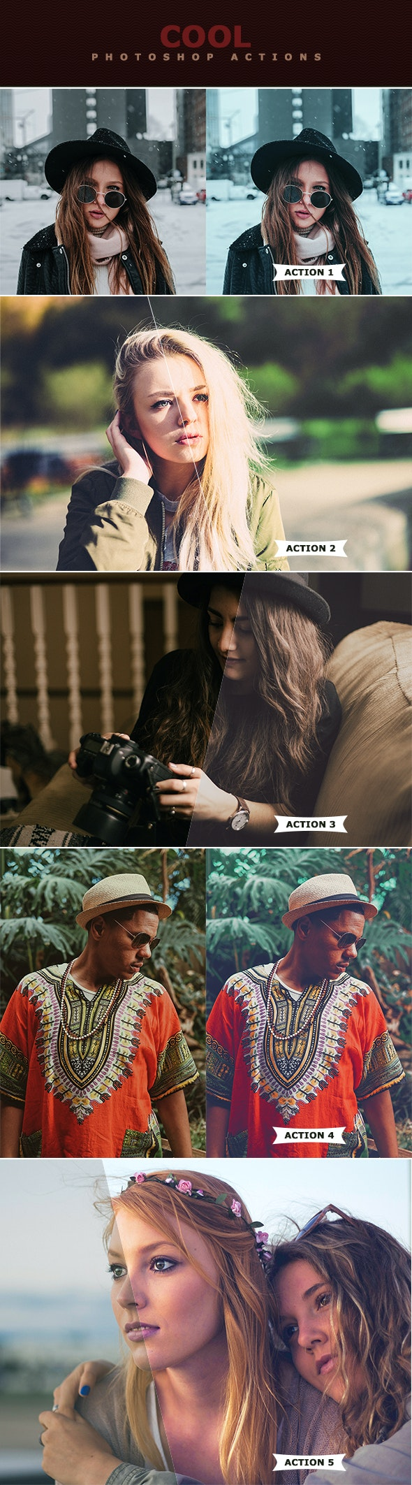Cool Photoshop Actions - Photo Effects Actions