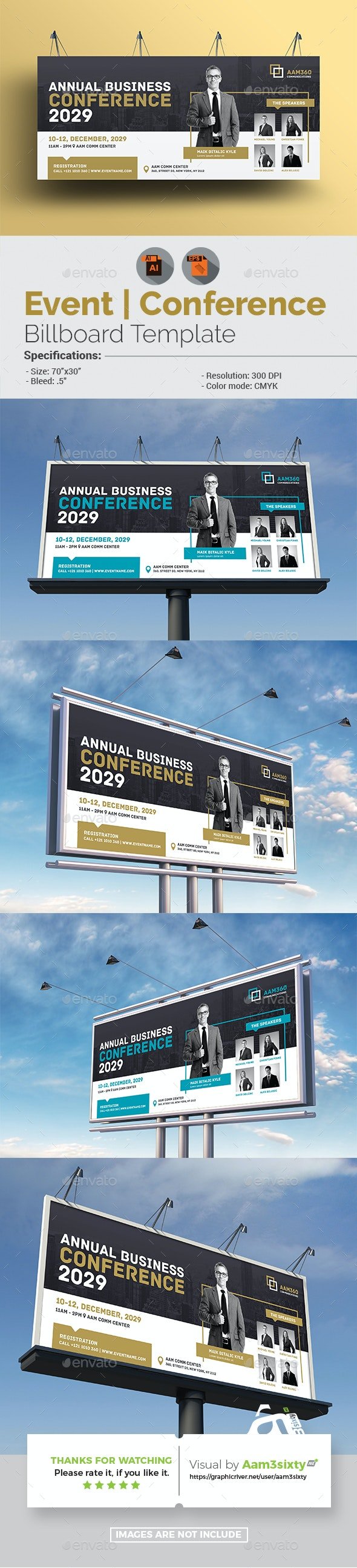 Event/Conference Billboard Template - Signage Print Templates