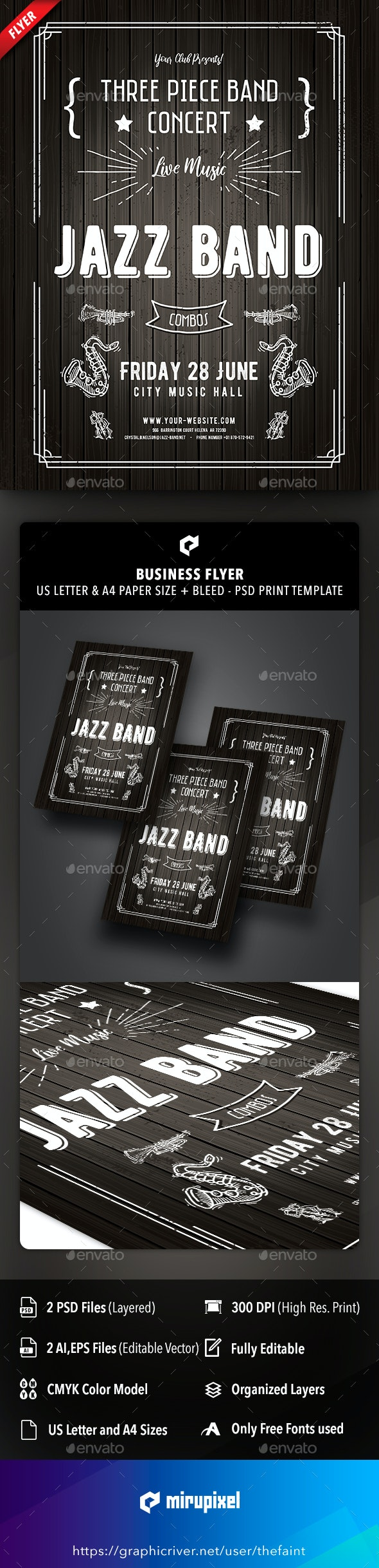 Jazz Band Business Flyer - Concerts Events