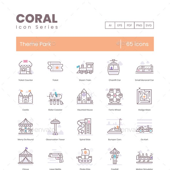 Theme Park Icons – Coral Series