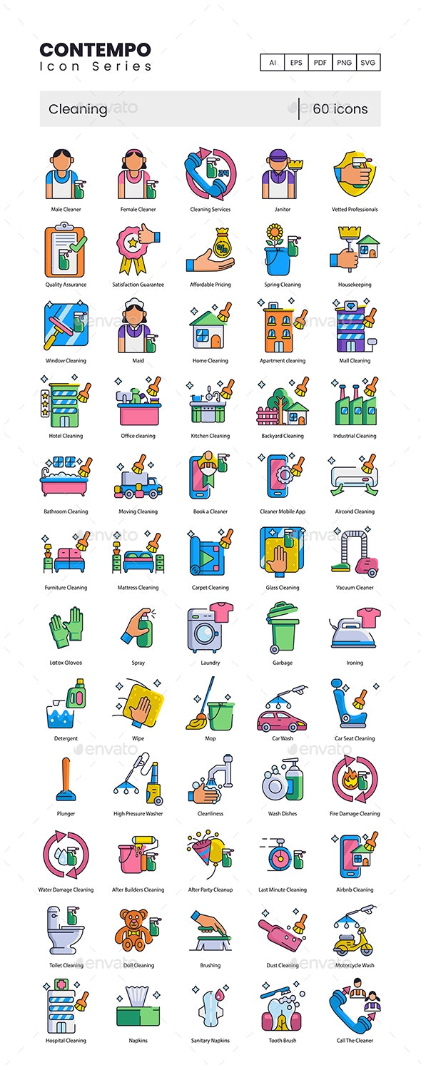 Cleaning Icons – Contempo Series - Miscellaneous Icons