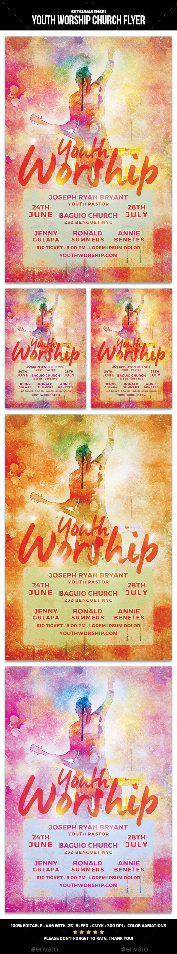 Youth Worship Church Flyer - Events Flyers