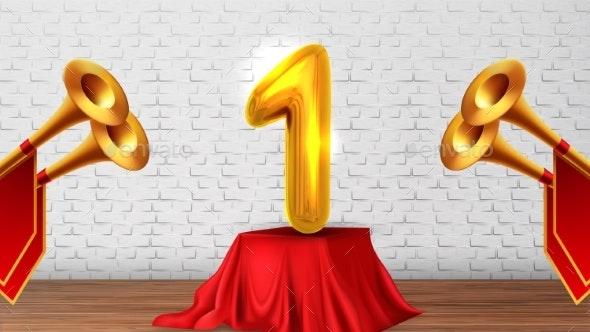 Winner Congratulations in Studio - Sports/Activity Conceptual