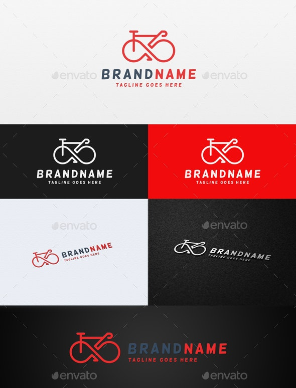 Bicycle Infinity Logo - Objects Logo Templates