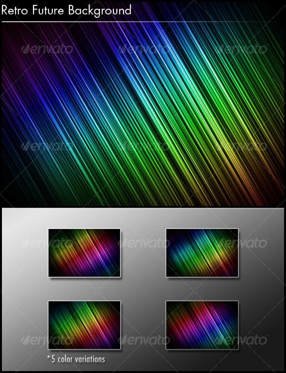 Retro Future Background - Backgrounds Graphics
