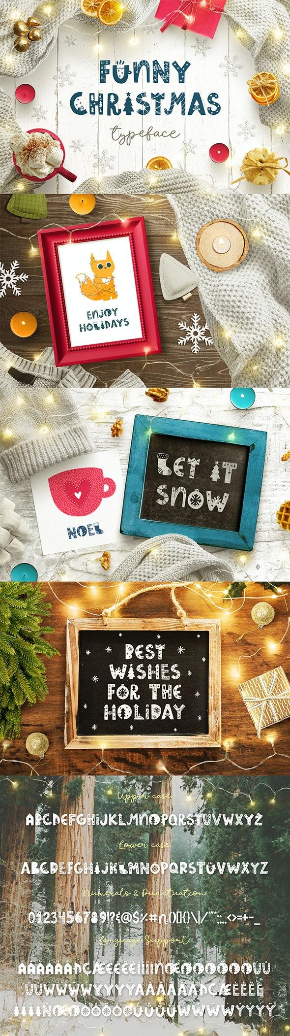 Funny Christmas Typeface - Holiday Decorative
