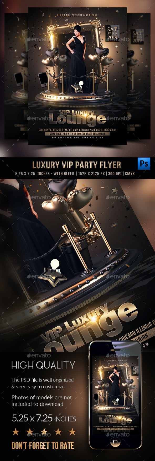 Luxury Vip Flyer - Clubs & Parties Events