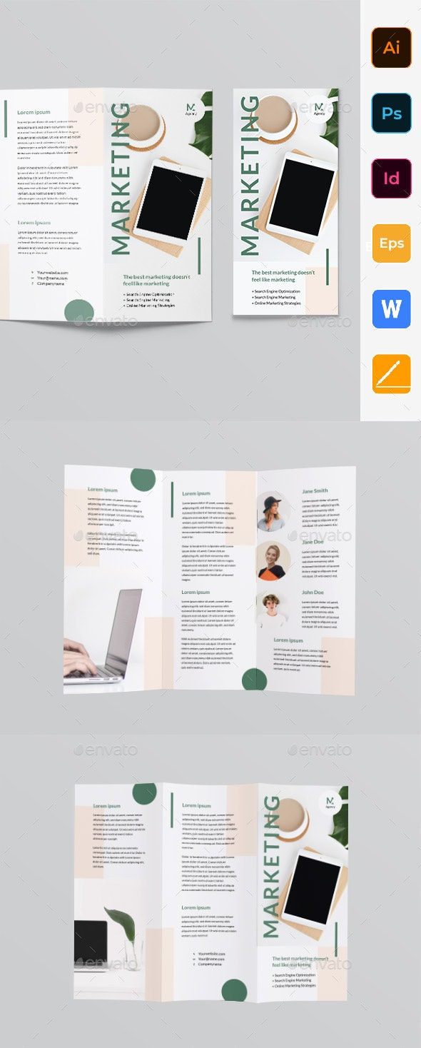 Marketing Agency Trifold Brochure - Corporate Brochures