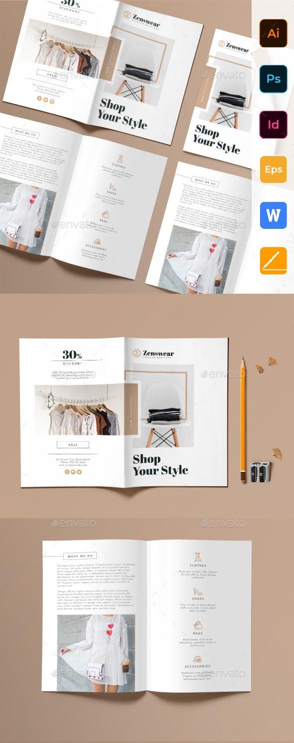 Boutique Bifold Brochure - Corporate Brochures
