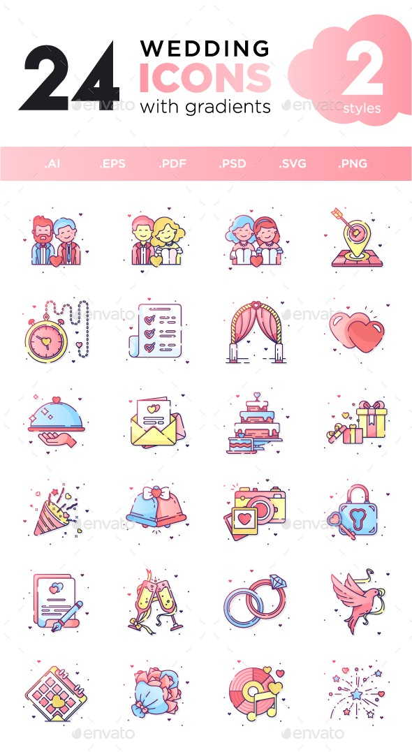 Wedding Icon Set - Icons