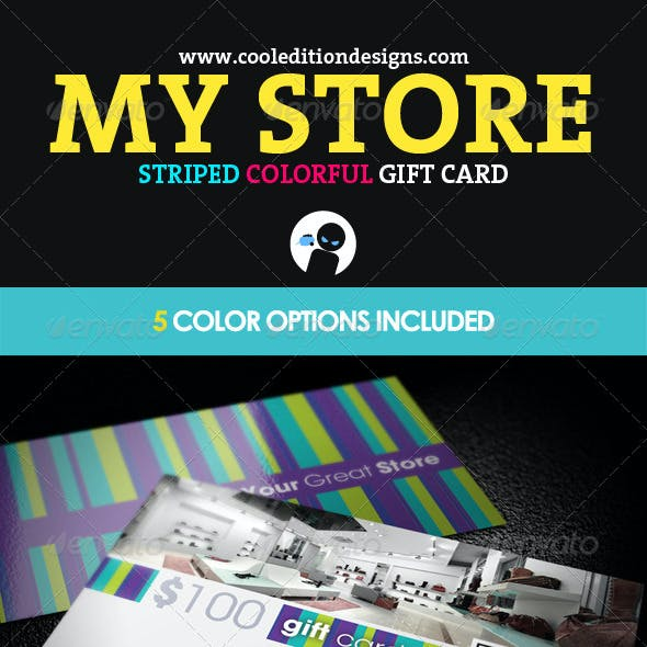 My Store - Striped and Colorful Gift Card