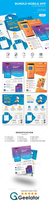 Bundle Mobile App Flyer Template - Commerce Flyers