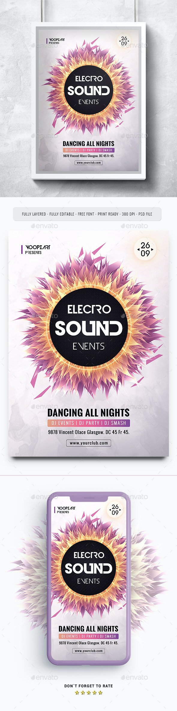 Electro Sound Flyer - Events Flyers