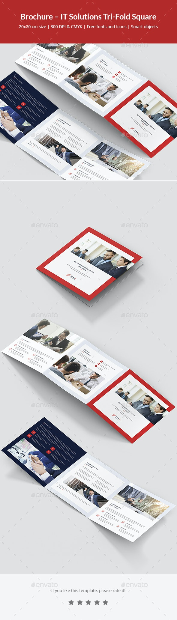 Brochure – IT Solutions Tri-Fold Square - Corporate Brochures