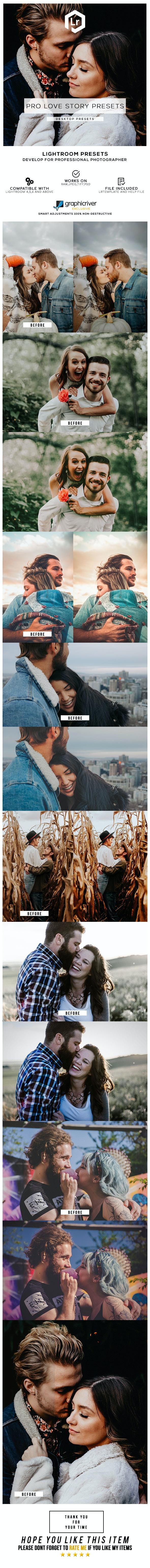 32 Pro Love Story Presets - Lightroom Presets Add-ons