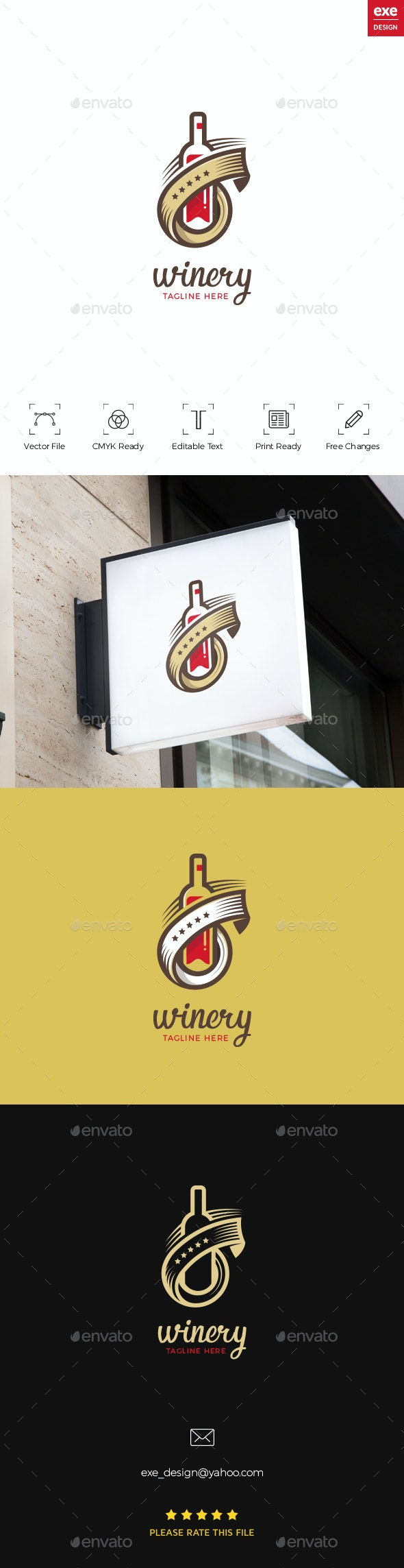 Wine Logo - Restaurant Logo Templates