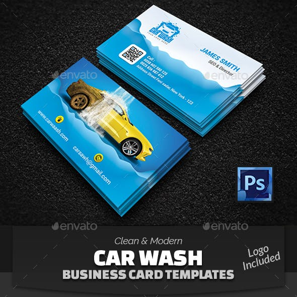 Banner Car Car Wash Creative Business Card Templates Designs