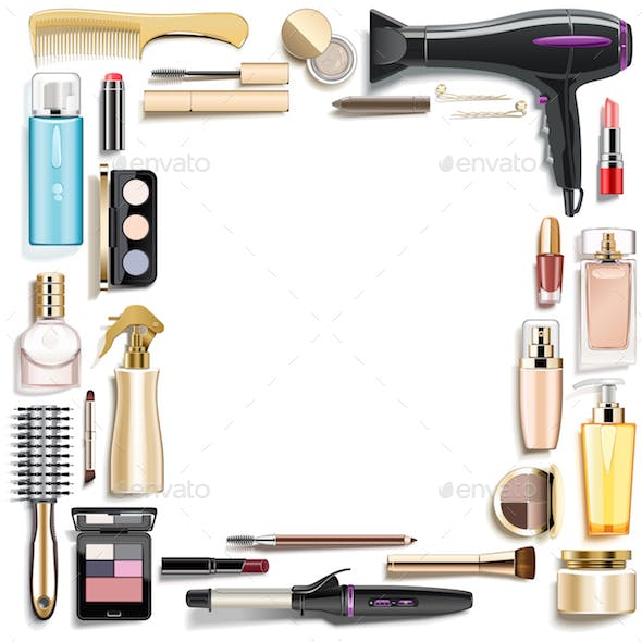 Vector Beauty Accessories Frame