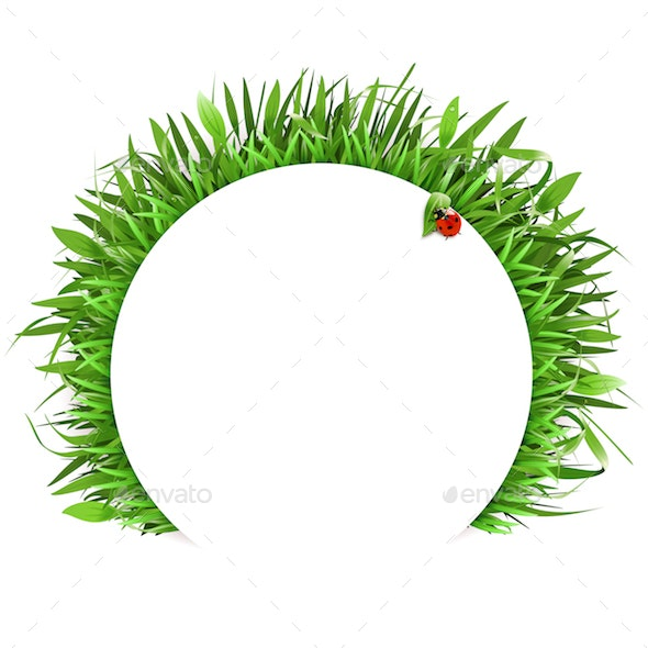 Vector Grass with White Label - Nature Conceptual