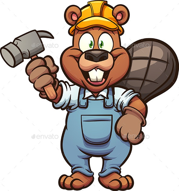 Construction Beaver - Animals Characters