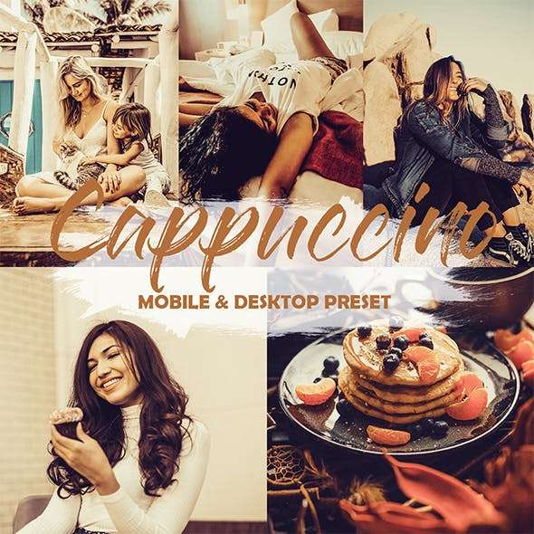 4 Sunsets Mobile and Desktop Presets Cappuccino