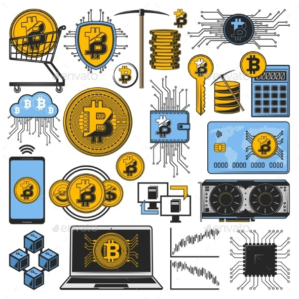 Bitcoin Cryptocurrency Money Blockchain Mining
