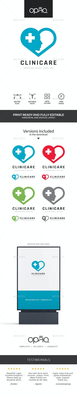Clinic Health Care Logo - Humans Logo Templates