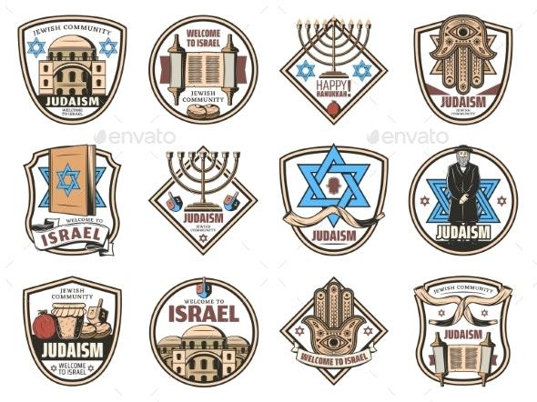 Israel Symbols Judaism Religion Jewish Icons - Religion Conceptual